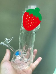 Wholesale water penis - The male penis glass bong water pipe with downstem bowl 7.5 inch tall dab rig