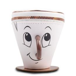 Novo Criativo Dos Desenhos Animados Cup Forma Designer Coin Purse PU Mini Bolsa Da Moeda Das Mulheres Dos Homens Zíper Embreagem Aberta Carteira Moda Chave Bolsa