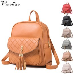 7246befc2e00b 2019 quasten-rucksack-stil VMOHUO Koreanischen Stil Frauen Rucksack Marke  Leder Diamantgitter Rucksäcke Weibliche