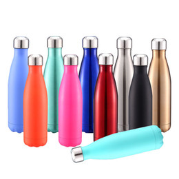 Wholesale old shapes - 500ml Cola Shaped water bottle Vacuum Insulated Travel Water Bottle Double Walled Stainless Steel coke shape Outdoor Water Bottle A-601