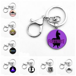 Wholesale toys gift animation - 8 styles Fortnite necklace toy props hot and classic gift set FPS Fortnite keychain Cool metal time gem pendant Game Animation Accessories