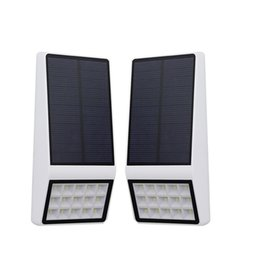 Wholesale high motion - LED Solar light High Sensivtive Microwave Radar Motion Sensor Garden Solar lamp Fence Street Pathway Security Outdoor lighting wall pack