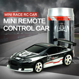 Wholesale Frequency Receiver - 2017 Hot Sale 1  58 Coke Can Mini Rc Car Radio Remote Control Micro Racing Car 4 Frequencies