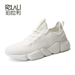 young men shoes Promo Codes - DUDELI Hot Cheap Mens Shoes Young Boys Fabric Breathable Sports Walking Shoes Male Sneakers Big Size Simple Stylish Zapatillas