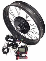 Оптовая 26*4.0 дюймов шины электрический снег велосипед колеса 48 в 1000 Вт жира Велосипед моторы 190 мм велосипед электрические колеса с батареей от