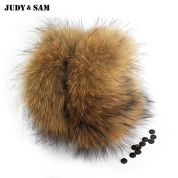 Wholesale Gloves Boots - 1Pair Nature Genuine Fur Cuff Oversize Real Raccoon Fur Boot Cuff Sleeves Wristband Sleeve For Women Winter Coat Downcoat