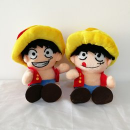 "Wholesale Japanese Child Dolls - 2 Styel 8"" 20cm Anime Japanese One Piece Monkey D Luffy Plush Doll Stuffed Toy For Child Best Gifts"