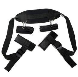 Wholesale Wholesale Adult Harnesses - Nylon Belt Bondage With Fluff Body Harness Adult Alternative Handcuff Sex Toys Stimulate SM Bound Belt