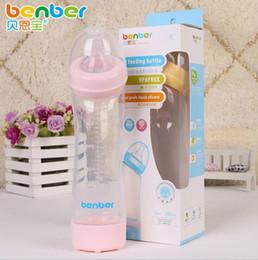 Wholesale Bpa Free Bottles Baby - 280ML Baby Feeding Bottle Infant Milk Bottle Nursing Feeding Bottle Baby Water Cup Kids Silicone PP BPA Free