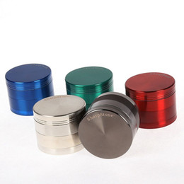 Wholesale Herbs Grinders - 40mm 4 Layers Herb Grinder Zinc Alloy Sharpstone 6 Colors Mini Tobacco Grinders Spice Crusher for Glass Bongs 5915S