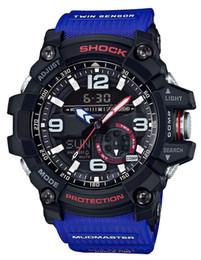 Wholesale 2018 couleurs produit d usine sport GG1000 montres de luxe pour hommes montres pour hommes LED chronographe toutes les fonctions de travail étanche avec boîte d origine