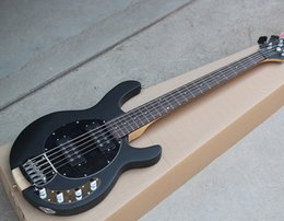 Wholesale Neck Through Body Bass Guitar - 2018 Factory Custom Matte Black 5-String Electric Bass Guitar with Neck-through Body,Rosewood Fingerboard,Offer Customized