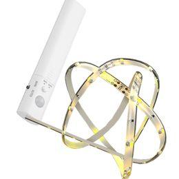 portes-robe blanches Promotion Lampe de détection de mouvement sans fil Bande LED sous la lumière du lit Lumière sous le meuble Veilleuse Placard Garde-robe Escalier Lumière de porte (blanc chaud)