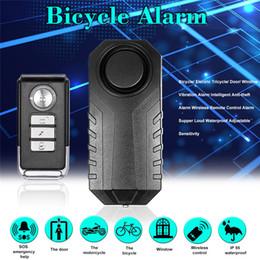 2019 sistema de alarma de hogar pstn gsm Alarma antirrobo de la bicicleta inalámbrica Alarma impermeable de la puerta / de la vibración de la ventana Sensor de alarma teledirigido inteligente 113dB en voz alta