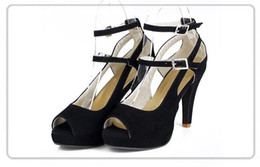 Wholesale Big Bottom Sandals - ladies sandals new Fashion Party Shoes Sexy Red Bottom High Heels Ankle Strap Sandals Women's Shoes Big Size