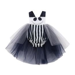 876d93c346340 blouson tutu blanc Promotion Nouveau-né filles de bébé halloween une pièce  barboteuse tutu jupe