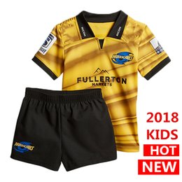 Wholesale National Children - Hot sales 2018 2019 New Zealand Club Hurricanes kids rugby Jerseys NRL National Rugby League shirt nrl jersey Hurricanes child kit shirts