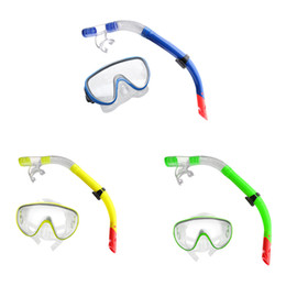 Wholesale dive breathing - Waterproof Swimming Diving Goggles Mask + Breathing Tube Snorkel Set Diving Mask for Men Women Water Sports Snorkeling Swimming