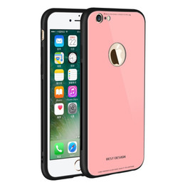 Wholesale original bumper - Ultra Thin Glass Back + TPU Phone Cases Cover Gel Bumper Original Color Shockproof For iPhone X 8 7 6 6S Plus