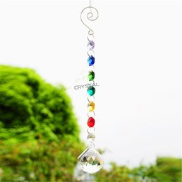 Wholesale Crystal Chandelier Lighting China - 2 Pcs 30mm Colorful design Sun catcher clear lighting ball pendant accessories wedding home decoration crystal prism chandelier accessories