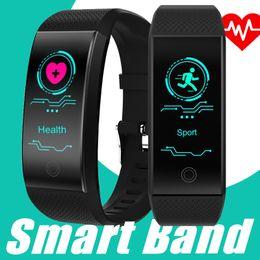 QW18 Smart Armband Intelligente Sport Armband Fitness Schlaf Tracker IP68 Pulsuhr Outdoor Smartband pk fitbit apfel uhr xiaomi von Fabrikanten