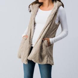 chalecos de moda para damas Rebajas 2018 invierno nuevo diseño artificial cordero pelo señoras chaleco de piel moda sin mangas señoras abrigo 9067