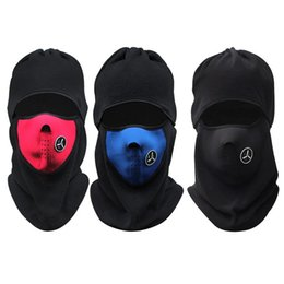 Wholesale Face Mask Winter Running - Wholesale-Winter Warmer Cycling Cap Windproof Neck Protector Face Mask Sport Ski Running Bicycle Cycling Neck Mask Hat Scarf