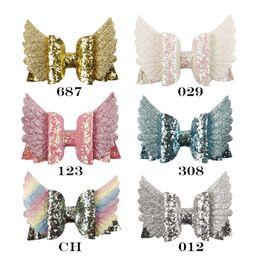 caramelo pc Rebajas 6 Unids / lote Glitter Bling Hair Bow para mujeres Corea Moda Alas Boutique Accesorios de Cabello Para Niñas de Color Caramelo Kid Clip de pelo
