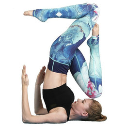 order paintings Coupons - YANQIN Women Yoga Pants Chinese Painting Stretchy Fitness Leggings Seamless Tummy Control Gym Compression Tights Pants Plus Size