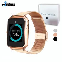 цена мобильного телефона Скидка Bluetooth Smart Watch Z60 металлический ремешок Bluetooth наручные Smartwatch поддержка Sim-карты TF Android IOS часы Multi-языки
