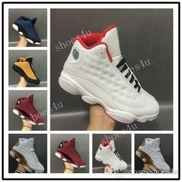 Wholesale Red Wine Fabric - Discount Cheap 13 Men Basketball Shoes Low Alternate Brave Blue Chutney Pure Money White Gold Wine Red Velvet Heiress sneakers