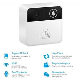 ver tarjeta de video Rebajas 32GB 720P WiFi Video Timbre Cámara de seguridad para el hogar Mini Timbre de puerta inalámbrico Control en tiempo real de dos vías de conversación de video para iOS Teléfono Android