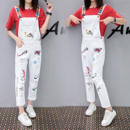 8562699397c9 jumpsuits for woman denim Australia - Spring Autumn White Denim jumpsuit  womens Loose Denim overalls for