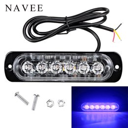 2019 luz de emergencia 24v 6 LED camión de coche Mini barra de luz led de emergencia 12V 24V 18 luz intermitente de modo intermitente para flash de advertencia de emergencia rebajas luz de emergencia 24v