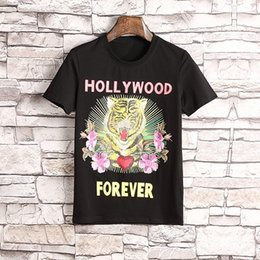Wholesale Ufo Shirt - FashionTiger Head Flowers Print Women T-shirts G UFO Print Cotton Crew Neck T-shirt Black White Colors Short Sleeve