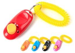 2019 collari di cane scioccante Pet Training Tool Remote Portable Animal Dog Button Clicker Sound Trainer Control Accessorio per cinturino da polso