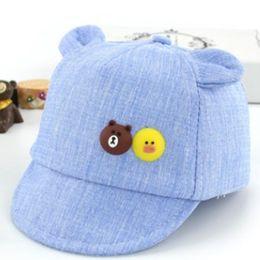 HATGUD TYLZT Algodón Oso de Dibujos Animados Pequeño Pato Infantil Sombrero  de Béisbol Moda Al Aire Libre Muchachas de Niño al aire libre en forma de  gorra ... 444b991005f