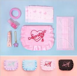 femmes jour embrayages coeur broderie mini sac à main tissu volants petite poche sac à main dames sac 3136 ? partir de fabricateur