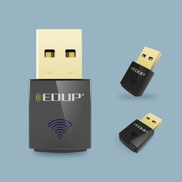 Wholesale Dual Band Wireless Adapter - EDUP Mini 5ghz Usb Wi-fi Adapter 600mbps 802.11ac Wifi Receiver Dual Band Usb Ethernet Adapter Network Card For Computer Pc