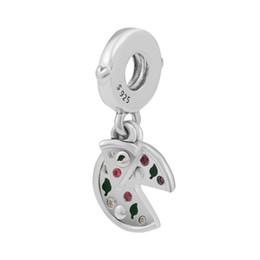 collana di passione Sconti 2018 Estate 925 gioielli in argento sterling passione per pizza ciondola ciondolo perline fascino adatto bracciali collana per le donne creazione di gioielli