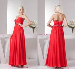 5ace9d9ba073 chiffon abiti lunghi damigelle d onore rosse Sconti Red Long New Immagini  reali A Line