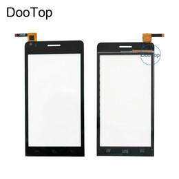 """Schermo touch screen capacitivo 3m online-Alta qualità 4.5 """"Per Explay Touch screen Capacitivo Digitizer sostituzione del vetro anteriore TouchScreen + 3m adesivo"""