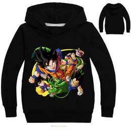 детские футболки с изображением свитера Скидка 5 стили мультфильм свитер Дракон мяч мультфильм свитер детский свитер с капюшоном мультфильм с длинными рукавами футболка толстовки Детские детская одежда R1