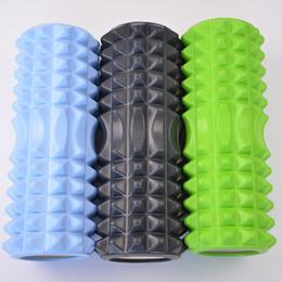 Wholesale Foam Block Black - 4 Colors Matrix Foam Roller EVA Top+PVC ABS Tube High Density Yoga Pilates Foam Roller Fitness Relax Muscle Yoga