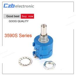 Wholesale 5k potentiometer - 3590S 500 1K 2K 5K 10K 20K 50K 100K ohm Precision Multiturn Potentiometer 10 Ring Adjustable Resistor