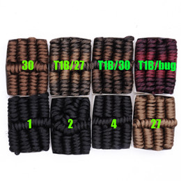 Argentina 10 pulgadas Ombre Pure Color Jumpy Wand Curl Crochet Braids 20 Roots Jamaican Bounce Synthetic Crochet Hair Extension para mujeres negras Suministro