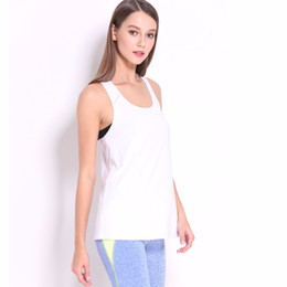 Wholesale low cut tanks xl - Women Loose Sports Tank Tops Sexy Mesh Low Cut Tops For Women Breathable shirt camiseta deporte mujer fitness