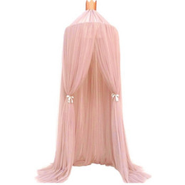 Wholesale Mosquito Netting Canopies - Vieeoease Baby Bed Canopy Bed Curtain Round Dome Hanging Mosquito Net Tent Curtain Moustiquaire Zanzariera Baby Playing Home Klamboe EE-157