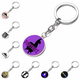 Wholesale necklace props - 16 Style Fortnite necklace toy props hot and classic gift set FPS Fortnite keychain Cool metal time gem pendant Game Animation Accessories B