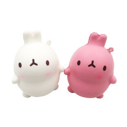Wholesale Wholesale Cellphone Charms - Squishy Slow Rising Novelty Games Toys Korean Rabbits Design Super Soft Squeeze Squishies Pu Bread Cellphone Chain Charms 7 8df W